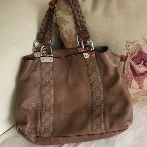 Gucci all leather shoulder bag